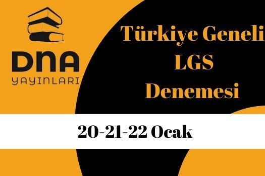 DNA Yayınları Türkiye Geneli Online LGS Deneme Sınavı