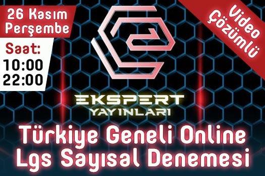 Ekspert Yayınları Türkiye Geneli Sayısal LGS Denemesi