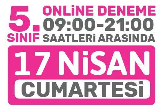 Türkiye Geneli Online Deneme 5. Sınıflar