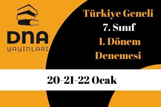 DNA Yayınları Türkiye Geneli 7. Sınıf Online Deneme