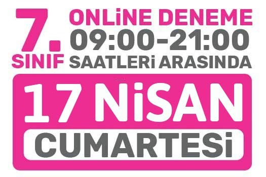 Türkiye Geneli Online Deneme 7. Sınıflar
